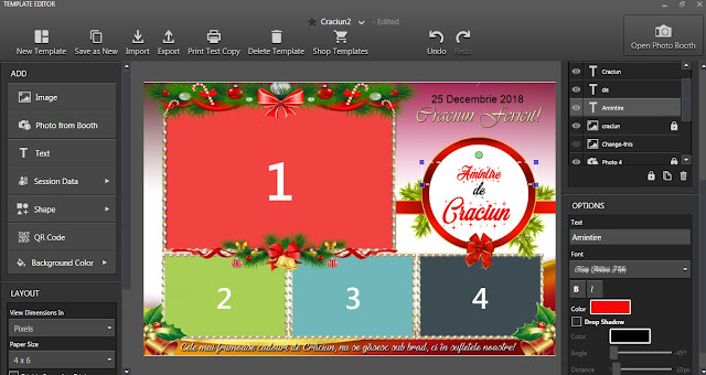Download Christmas photobooth templates