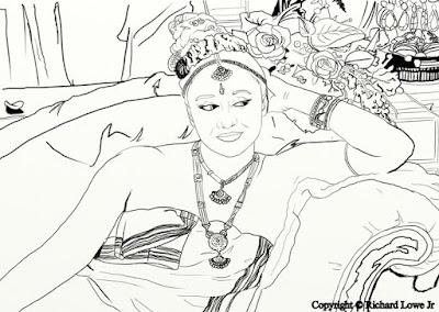 Book Blast: Beautiful Belly Dancers Adult Coloring Book