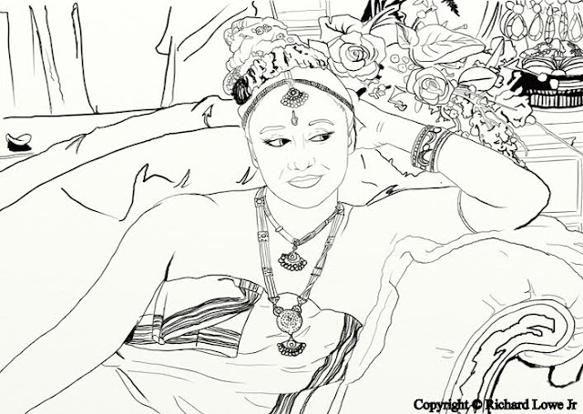 Beautiful Belly Dancers Coloring Book Blast Giveaway