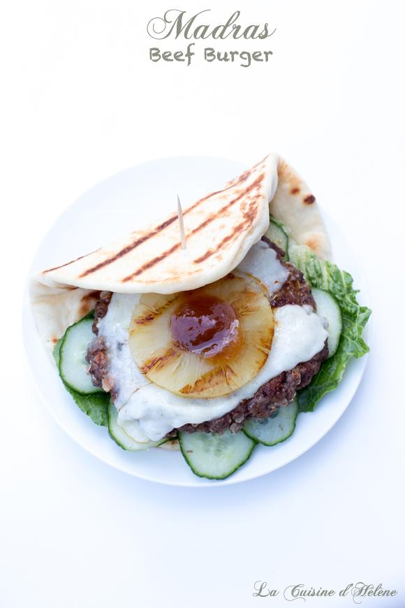 madras beef burger