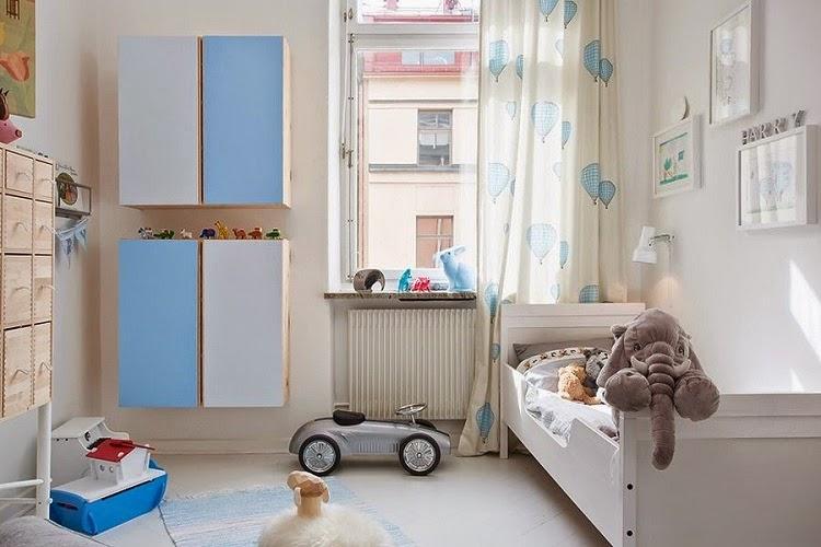Dormitorio infantil nórdico