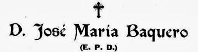 Necrológica de José María Baquero Domínguez