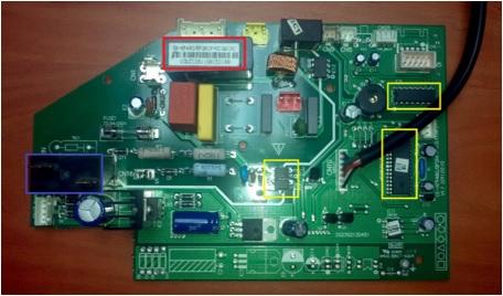 cómo reparar la placa del aire acondicionado, reparación de la placa de un aire acondicionado mini split