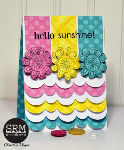 SRM Stickers Blog - Spring Cards by Christine - #cards #spring #stickers #punchedpieces #clearstamps #janesdoodles