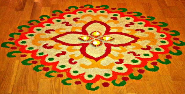 Diwali Images With Rangoli Design | Happy Diwali Images Of The Festival