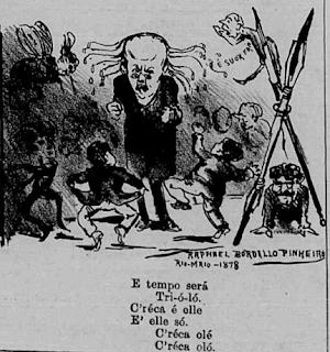 O Besouro - 1878 - Raphael Bordallo Pinheiro - balão