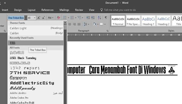 Cara Menambah Font Di Windows 8 Dengan Mudah