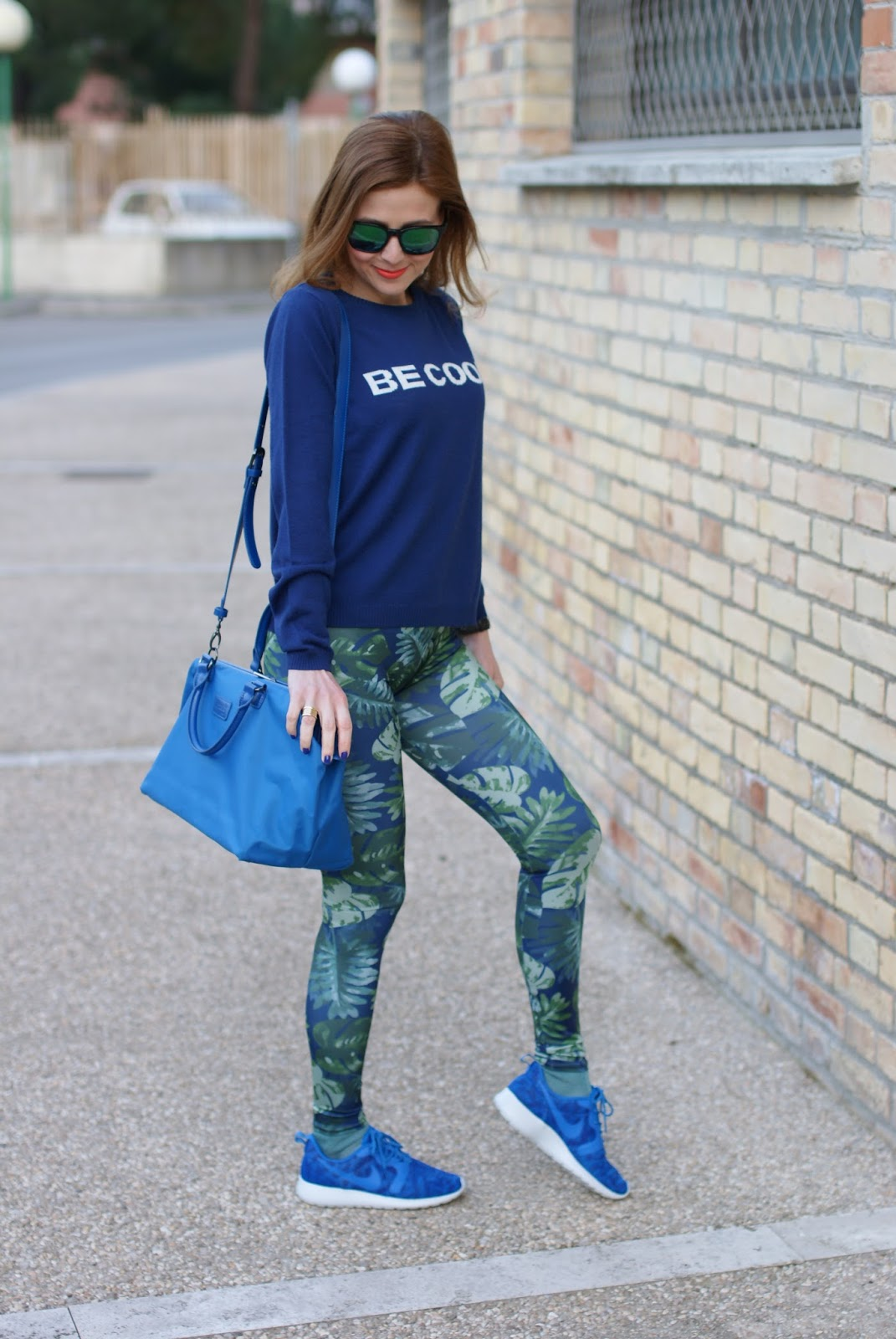 Pins to Kill scattered leaf leggings,Lipault bag, Fashion and Cookies fashion blog, fashion blogger style