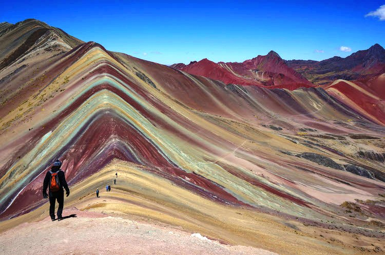 A Rainbow Mountain Range