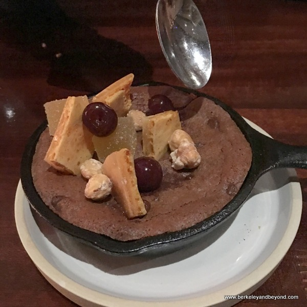 brownie skillet dessert at Urban Tavern at Hilton San Francisco Union Square in San Francisco, California