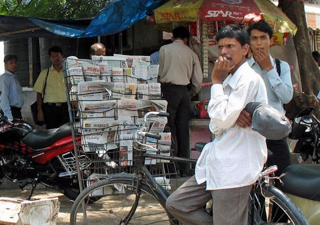 newspaper stall in Pune