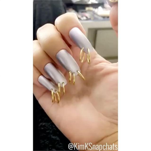Kim Kardashian rocks bizarre pierced nails (photo) - Welcome To ...
