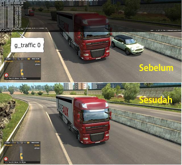 Menghilangkan Traffic ETS2
