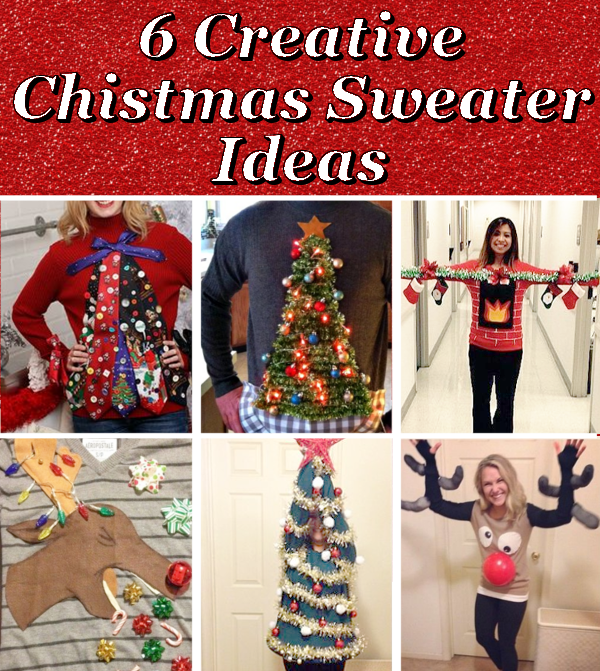 will you be attending an ugly sweater party this year check out these 6 creative sweater ideas for inspiration to make your own fantastic sweater