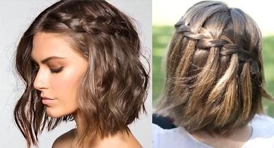 Model rambut pendek dengan kepang
