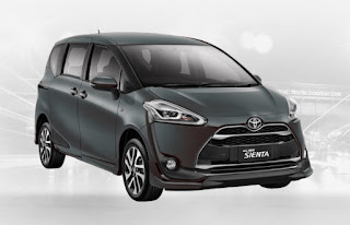 Harga Toyota Sienta di Pontianak Warna Gray Metallic