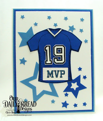 Our Daily Bread Designs Stamp Set: All-Star Jersey, Custom Dies: Sports Jerseys, Stars, Paper Collection: Old Glory