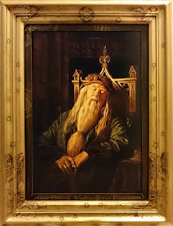 Albus Dumbledore acrylic portrait painting from Harry Potter by Robin Springett