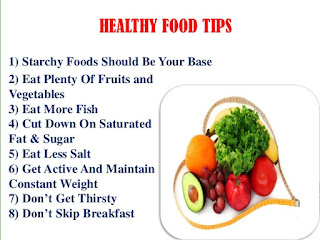 Healthy food tips for us