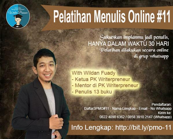 Pelatihan Menulis Online Batch #11