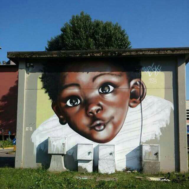 """""""Kid with his Head in tha Trees"""" #STREETART"""