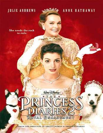 Poster Of Hollywood Film Watch Online The Princess Diaries 2: Royal Engagement 2004 Full Movie Download Free Watch Online 300MB