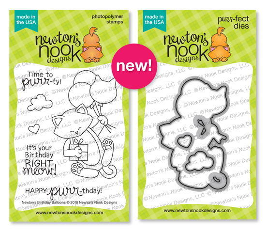 Newton's Birthday Balloons Stamp Set by Newton's Nook Designs #newtonsnook #handmade