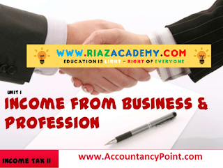 INCOME FROM BUSINESS and Un-Admissible Deductions