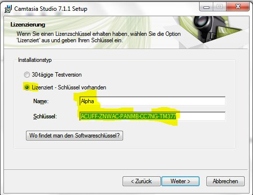 camtasia 7 serial key