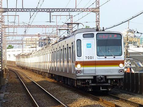 東急東横線 急行 清瀬行き 東京メトロ7000系