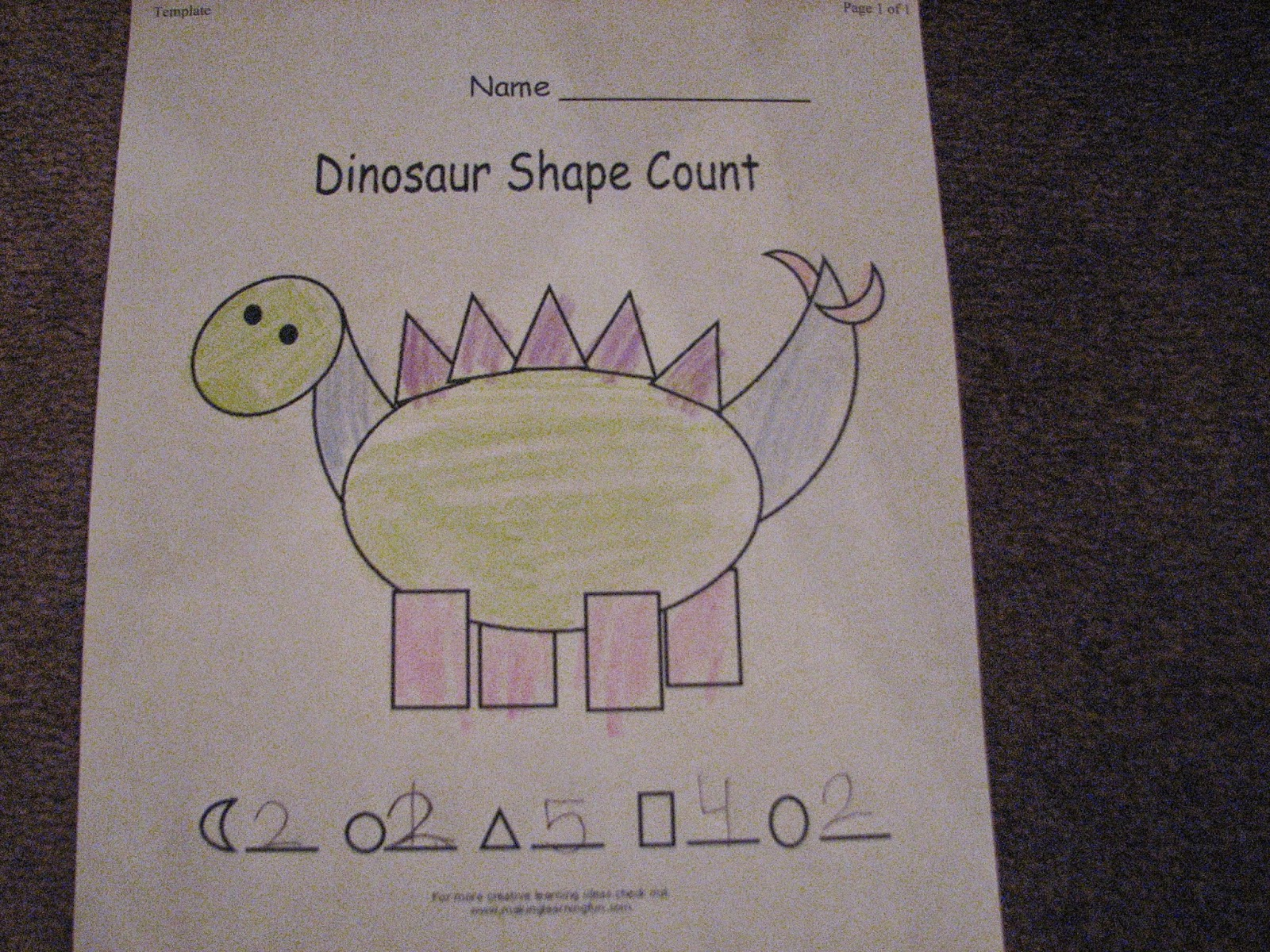 The Learning Train D Is For Dinosaur