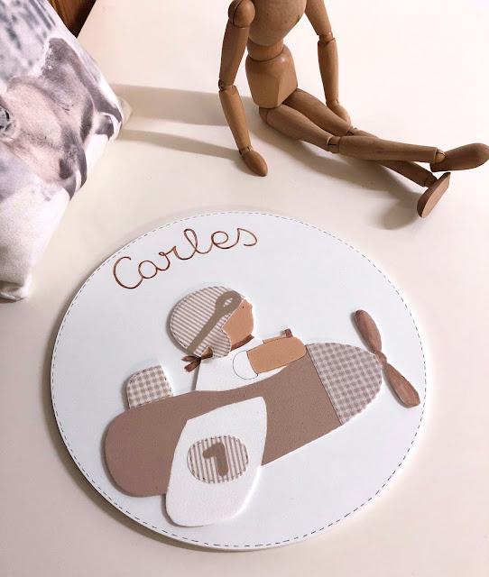 placa-puerta-decoración-infantil-personalizada-aviador camelo