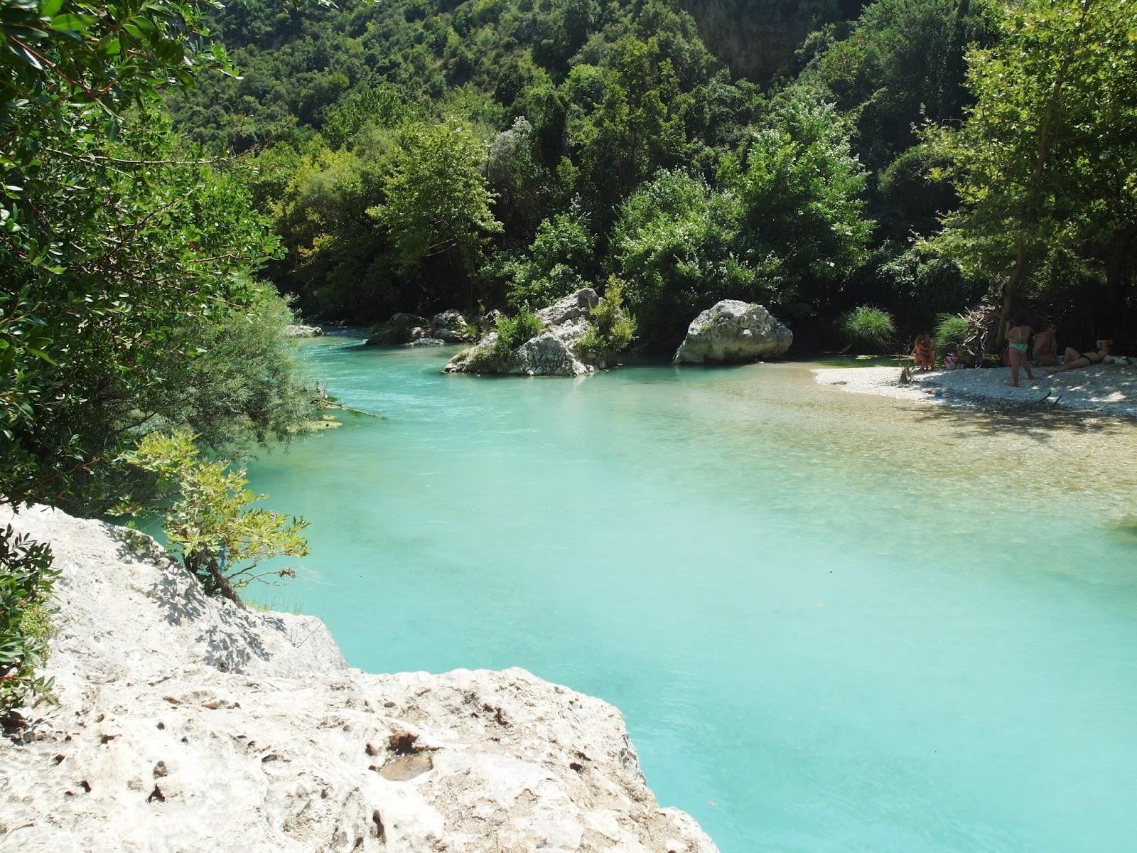 posvátná řeka Acheron v Gliki Řecko