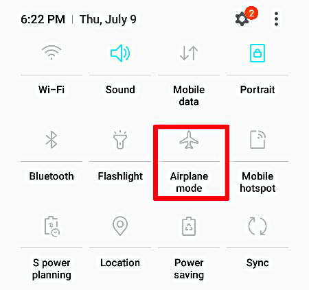 Use Flight Mode to Refresh Network