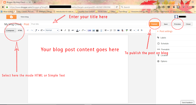 Post Editor on Blogger Image - Dots Created