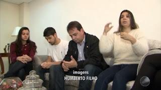 Empresário Ananias Mota e família. Foto: Reprodução/TV Bahia