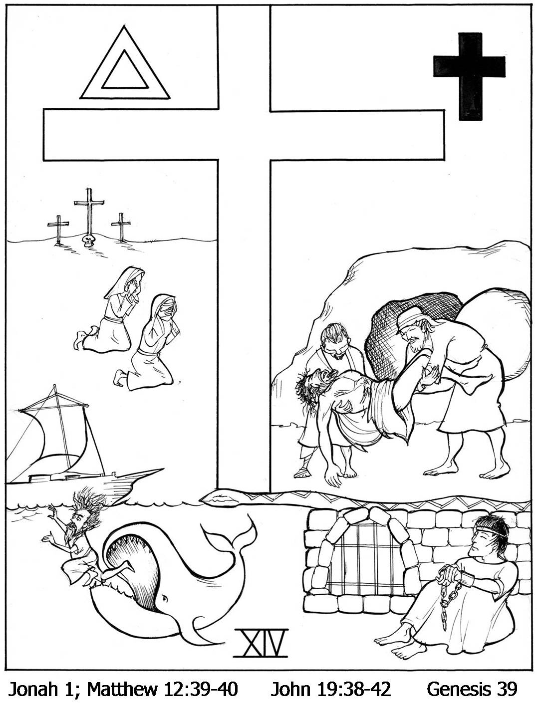 Stations Of The Cross Coloring Pages To Print Sketch