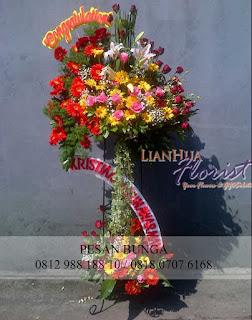 toko bunga jual standing, jual standing flowers murah, jual bunga ucapan selamat, florist jakarta utara, standing flowers ucapan anniversary