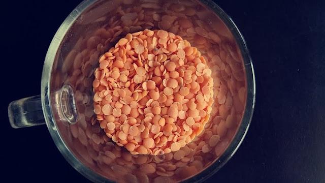 czerwony ryż z soczewicą
