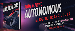 Blog Tour Banner for Autonomous by Andy Marino