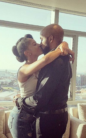 photos of BankyW kissing Adesua Etomi after she accepted ...