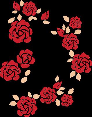 Kırmızı Güller Vektör Çizim