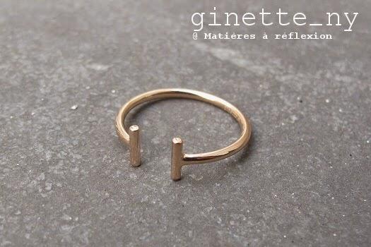 Bague Ginette Gold Strip en or rose