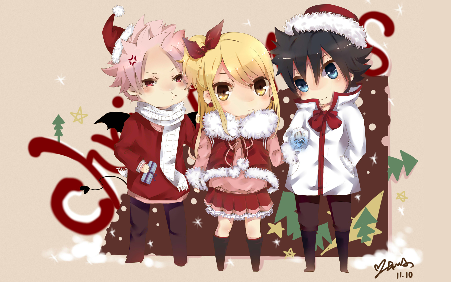 fairy tail anime christmas wallpaper - photo #21