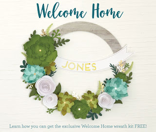 Earn this beautiful Welcome Home wreath kit for FREE!!
