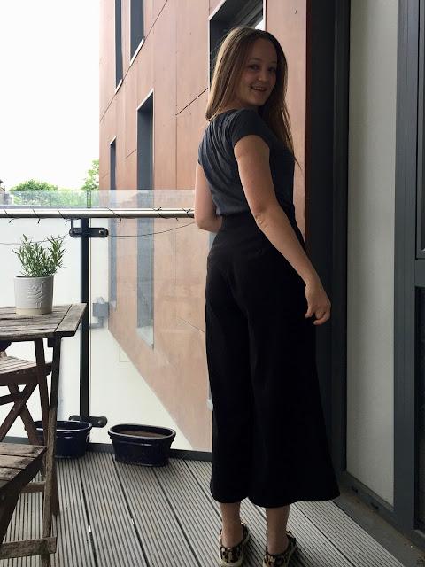 Diary of a Chain Stitcher: Black Stretch Gaberdine Flint Pants from Megan Nielsen