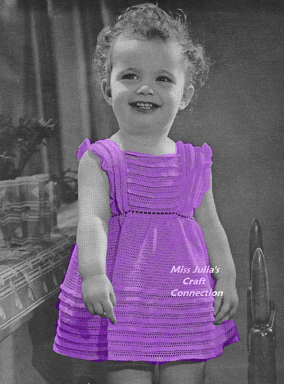 Knitted Pinafore Dress Pattern Free : Miss Julias Patterns: Free Patterns - 16 Baby Blankets to ...