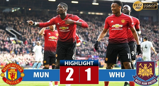 video cuplikan gol manchester united vs west ham 2-1