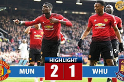 Video Cuplikan Gol Manchester United vs West Ham 2-1