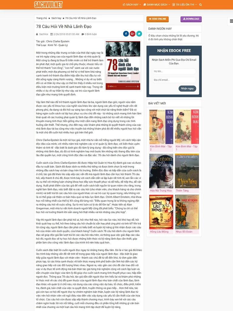Template Blogspot chia sẻ sách miễn phí  Sách Vui - Ảnh 1